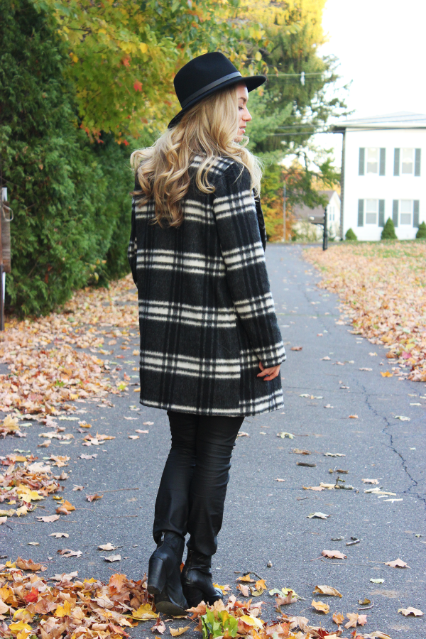 Topshop Plaid Coat from Nordstrom