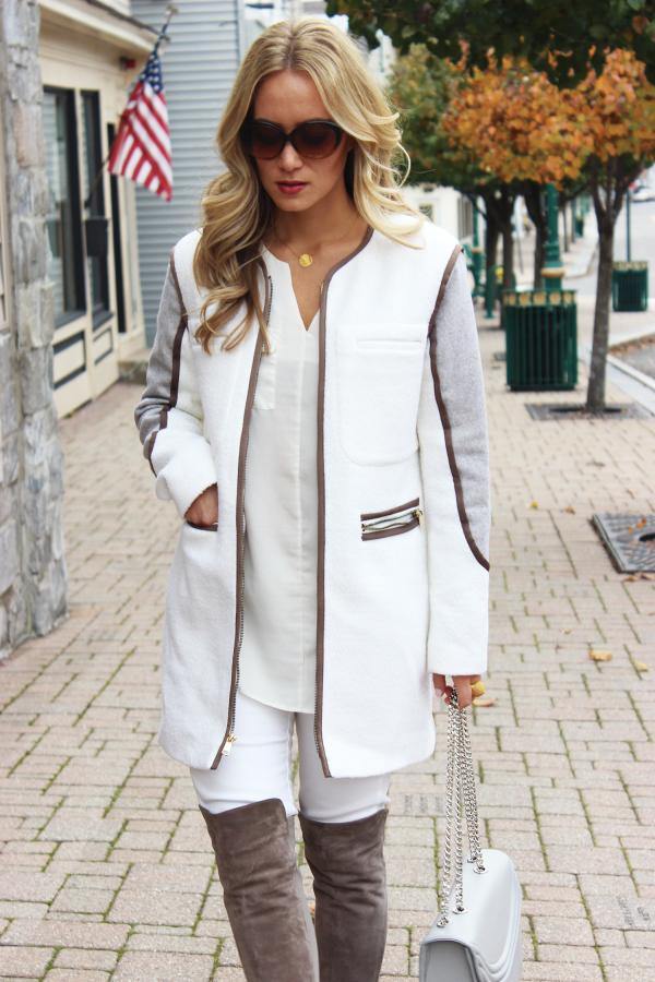 White Coat Gray Boots