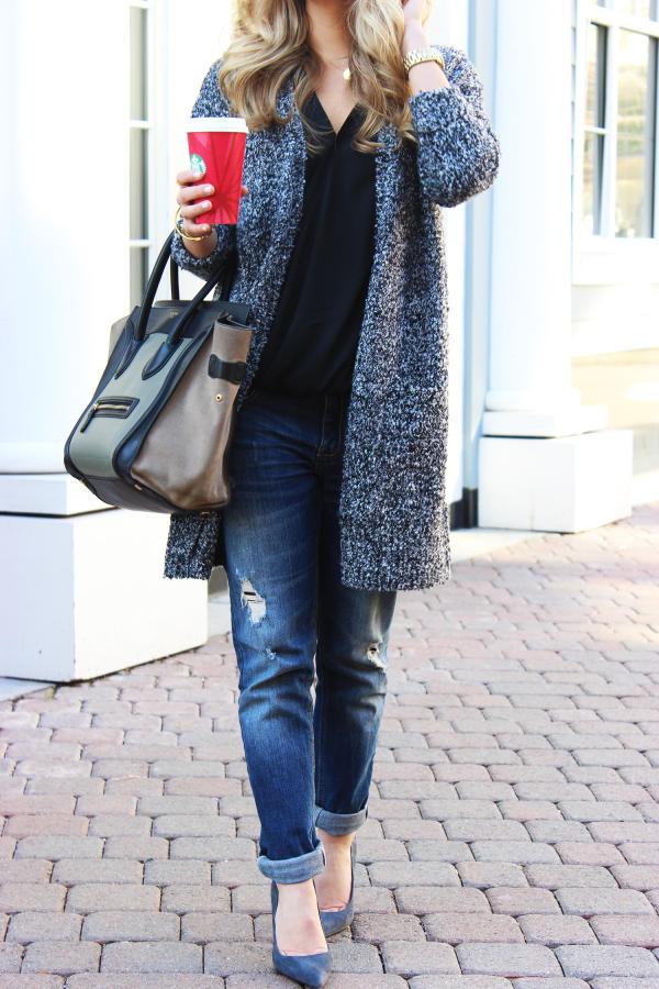 Big Sweater Celine Boyfriend Jeans