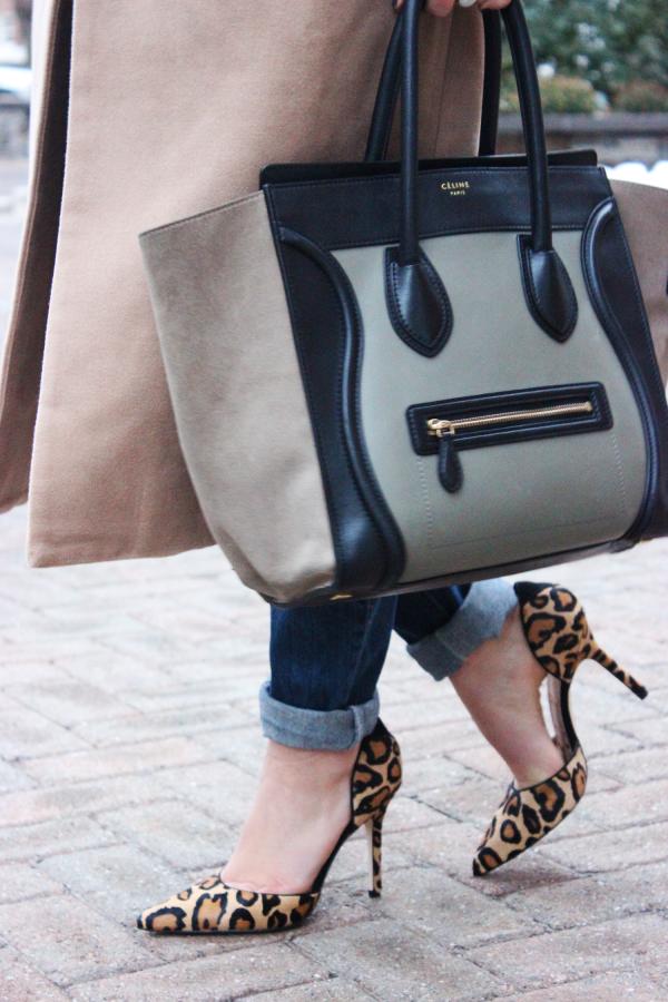 Celine Bag and Leopard Heels