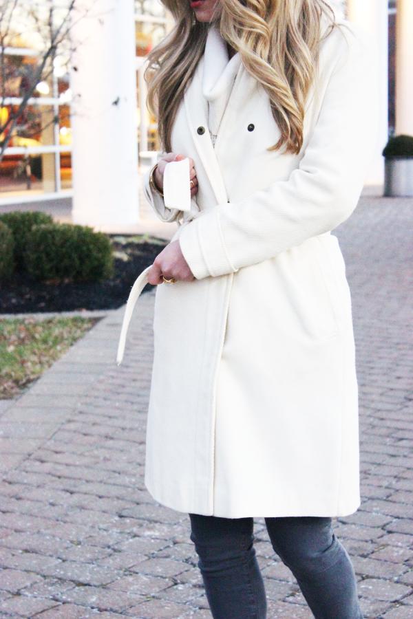 Cream Belted Coat