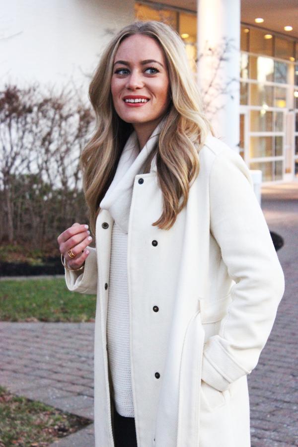 Cream Sweater and Coat