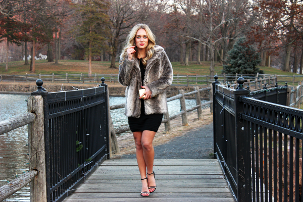 Holiday LBD with Fur