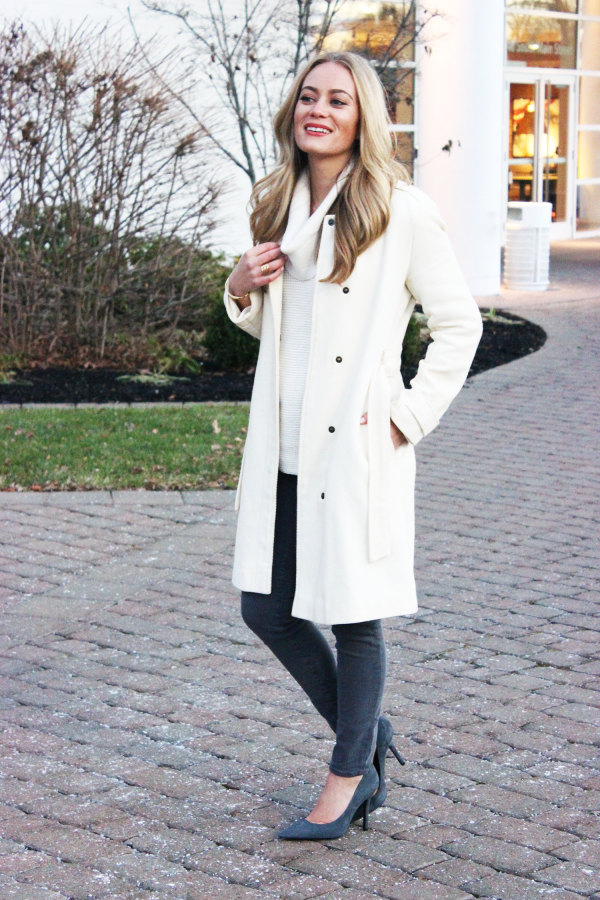 Petite Cream Coat | Down Coat