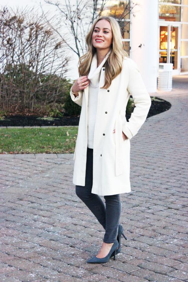 Long Cream Coat