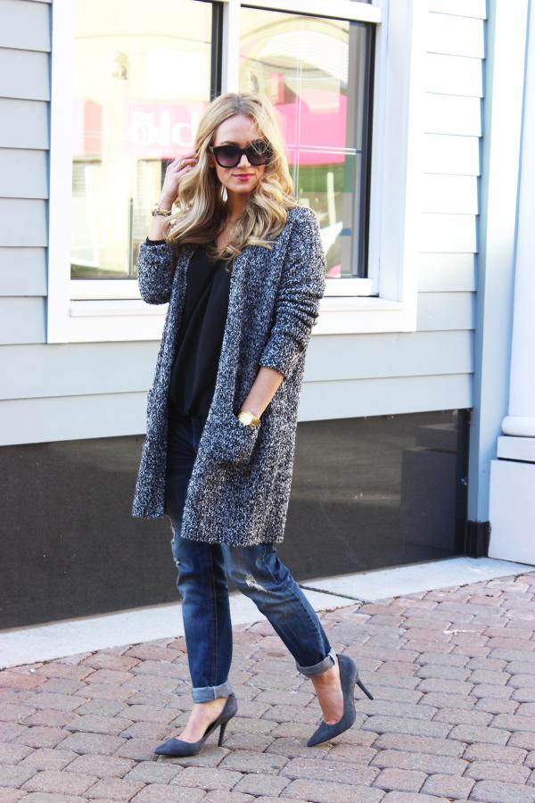 Long Topshop Gray Sweater