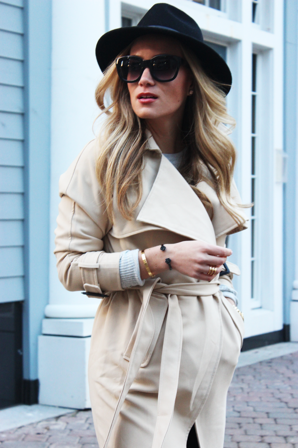 Style Cusp Belted Trench