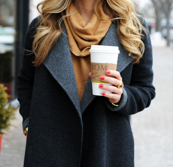 Gray Coat Camel Sweater