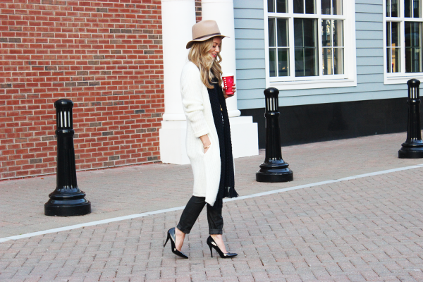 Long Cream Cardigan Chic