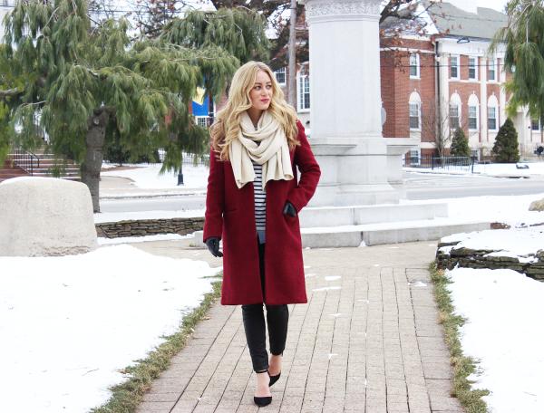 Red Coat Leather Leggings