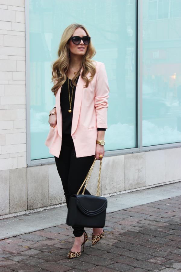 Valentines Day Outfit Blush Blazer