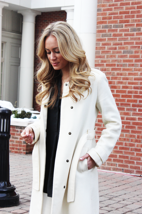 White Belted Coat