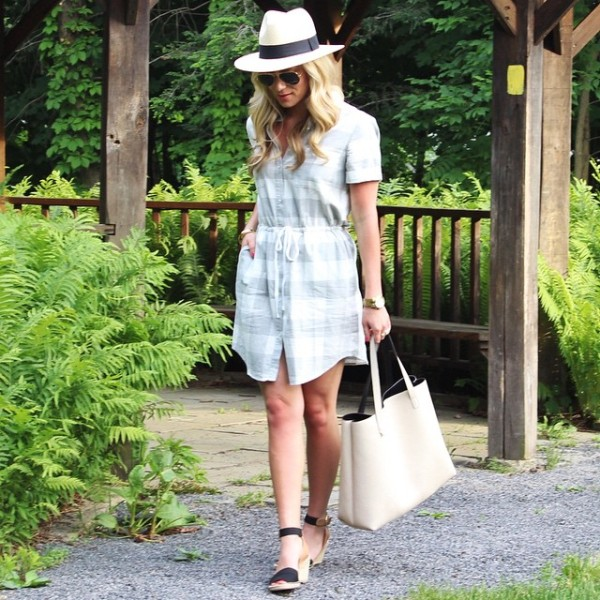 today on stylecusp.com in a @louandgrey checkered dress // shop…