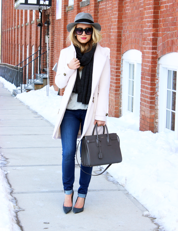 Blush Coat Gray YSL
