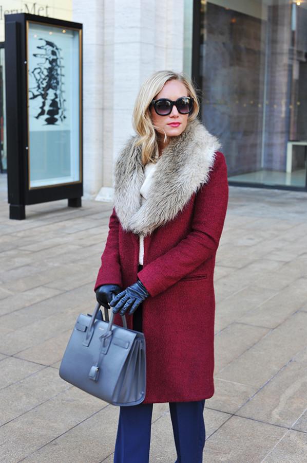 Chic Glam Red Coat