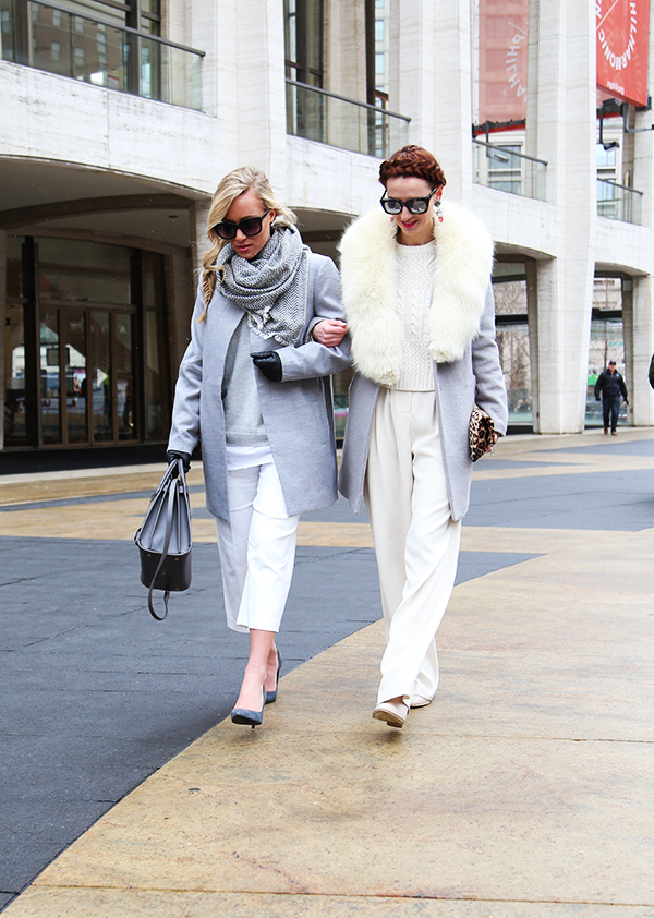 Fashion Week Street Style Gray and White