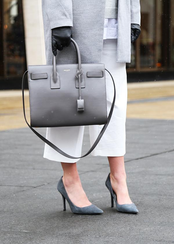 9d3f17408a Gray Sac de Jour Saint Laurent - Style Cusp