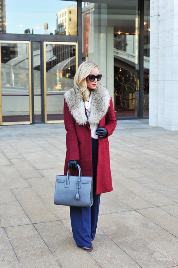 NYFW Style Red Coat