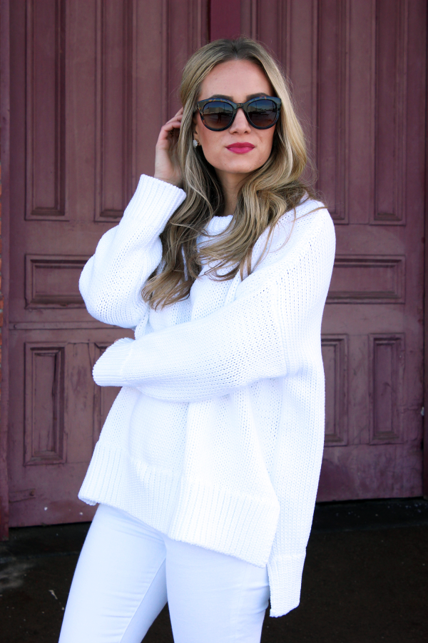 Zara White Chunky Knit