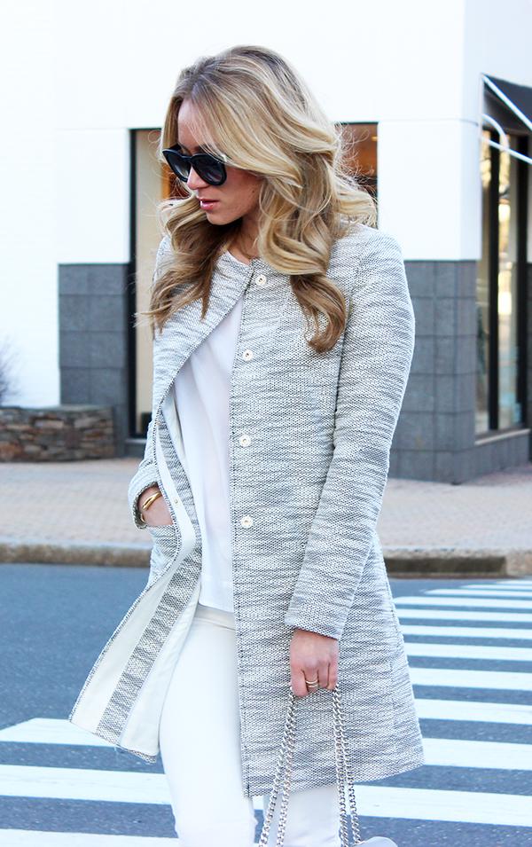 Gray Collarless Jacket