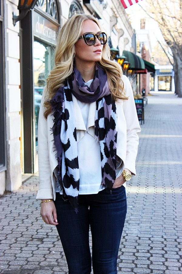 Sole Society Leopard Scarf