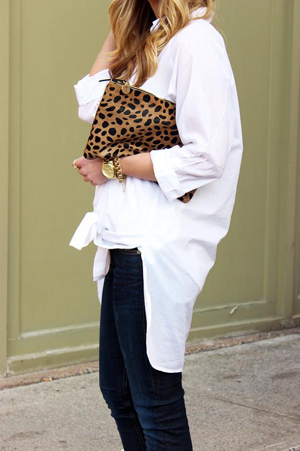 Clare Vivier Leopard Clutch
