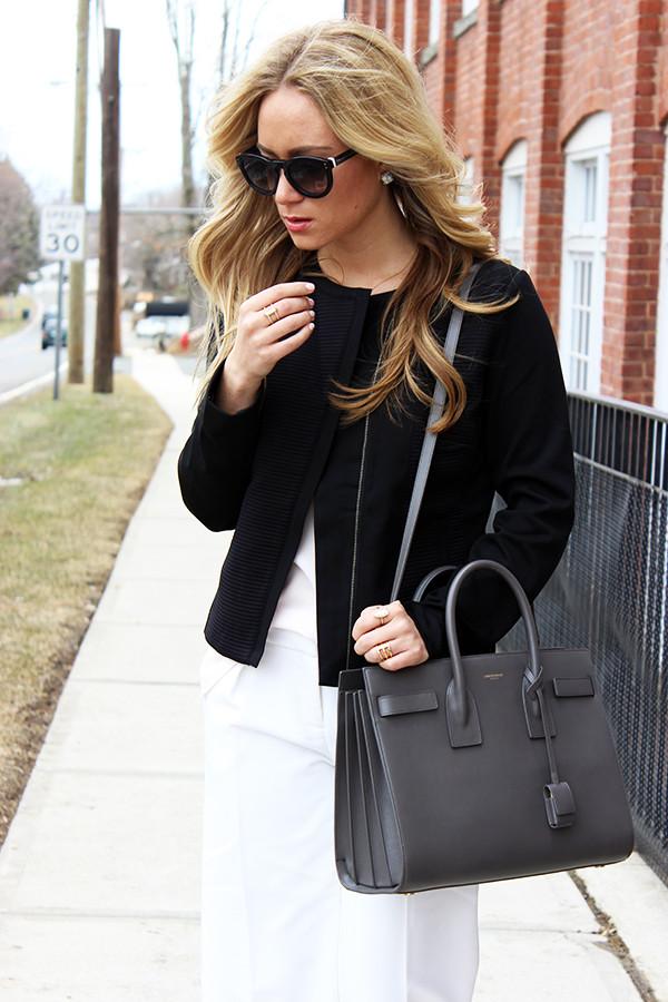 Gray YSL Bag