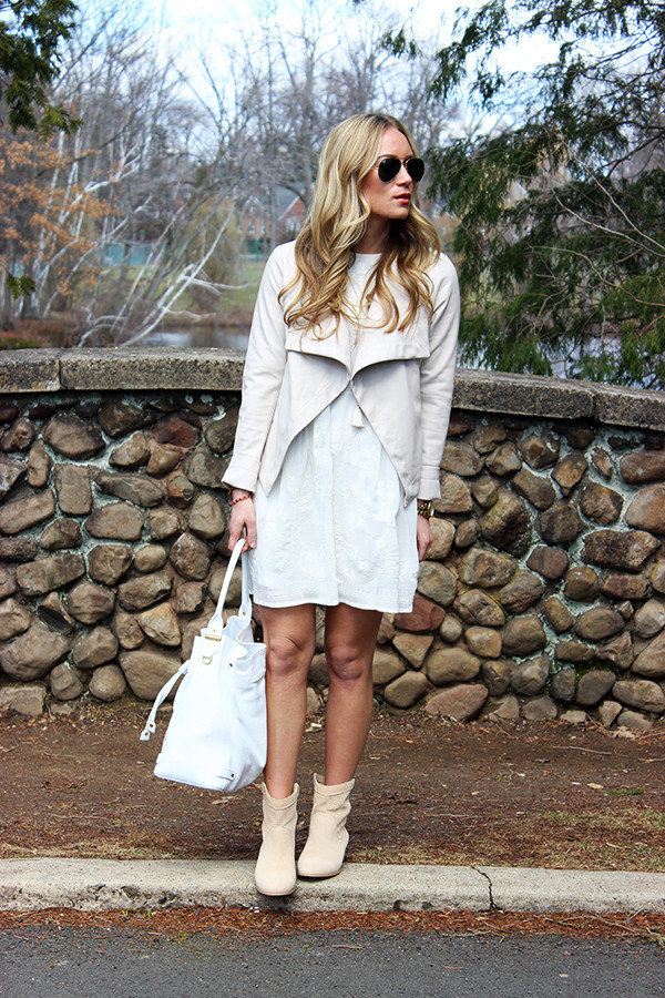 Nude Draped Jacket