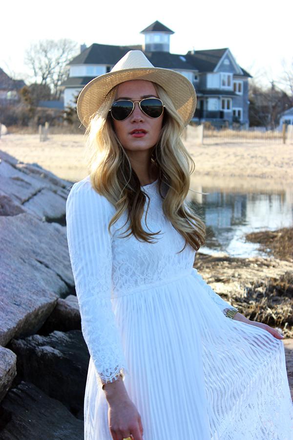 White dress Panama Hat