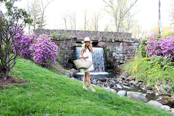 Linen Dress in the Park