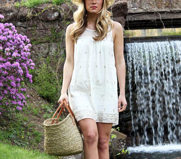Linen Sequin Dress