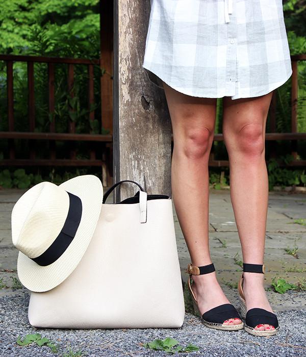 Neutral Tote Panama Hat