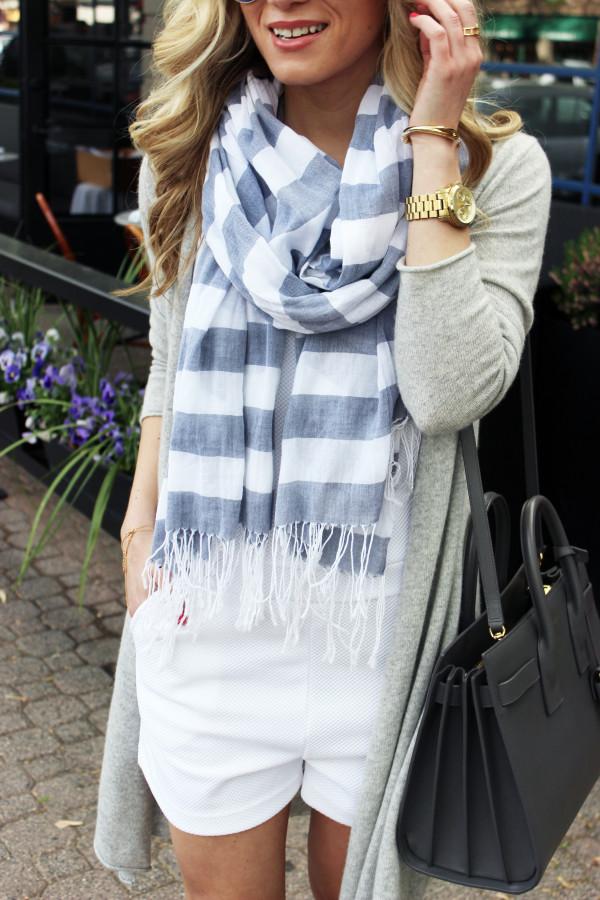 Summer Striped Scarf YSL Bag