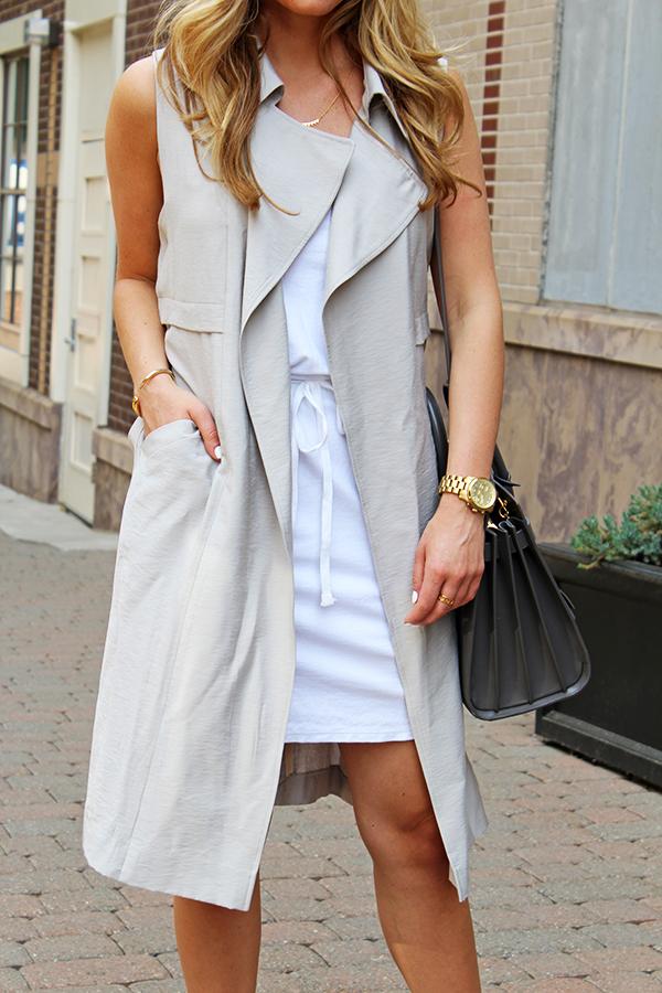 White Dress Gray Vest