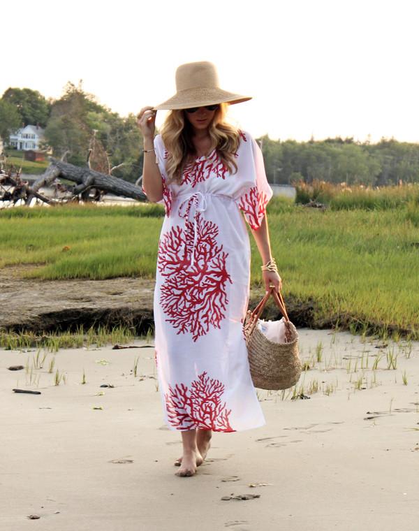 a110a1369b ... Style-Cusp-Summer Beach-Look Coral-Print-Coverup- ...