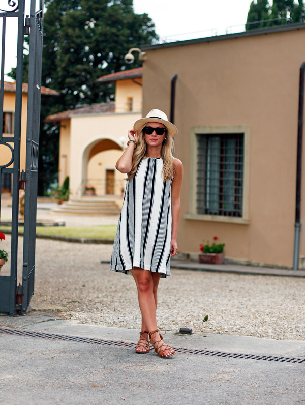 aad3a833e5d9 Stripe-Dress-with-Panama-Hat Style-Cusp-in-Tuscany ...