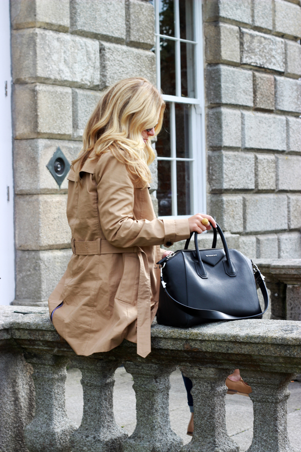 Givenchy-bag-Belted-Trench-Coat