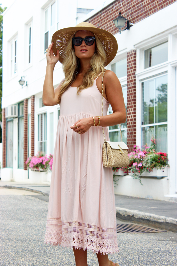 Pink-Midi-Dress