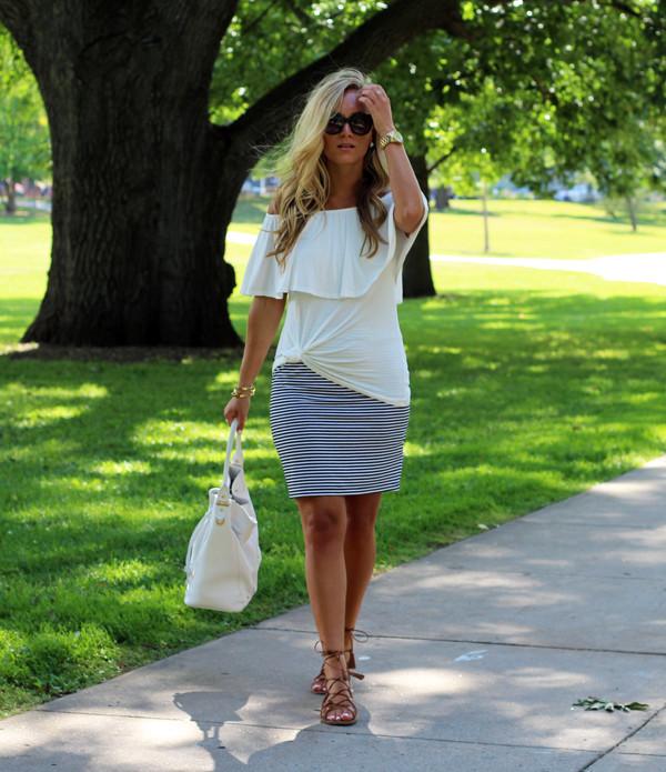 Ruffle-Top-Stripe-Skirt