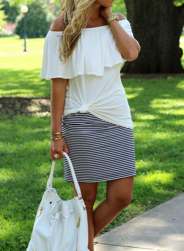 Stripe-Skirt