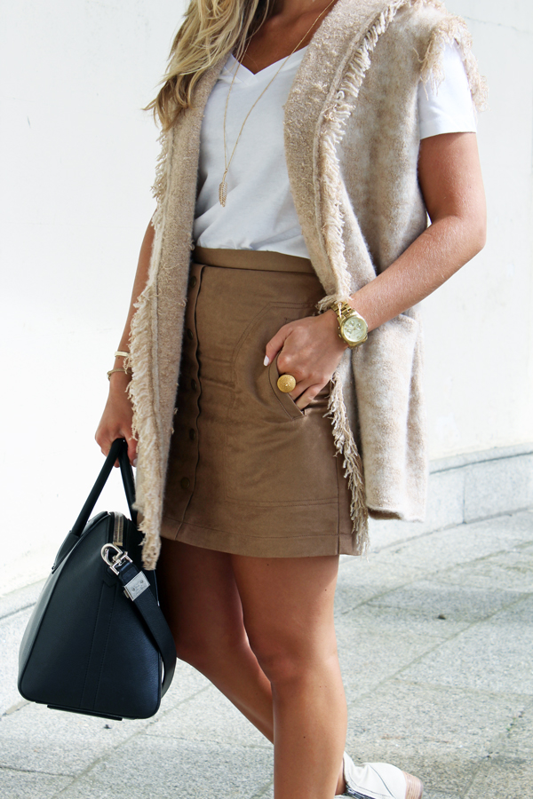 Faux-Suede-Skirt