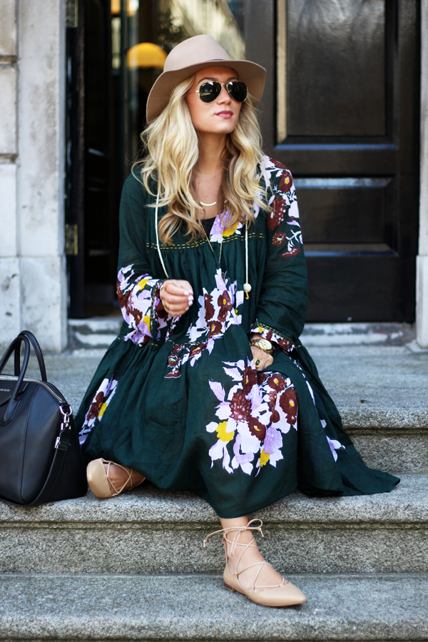 Printed-Dress-Lace-Up-Flats
