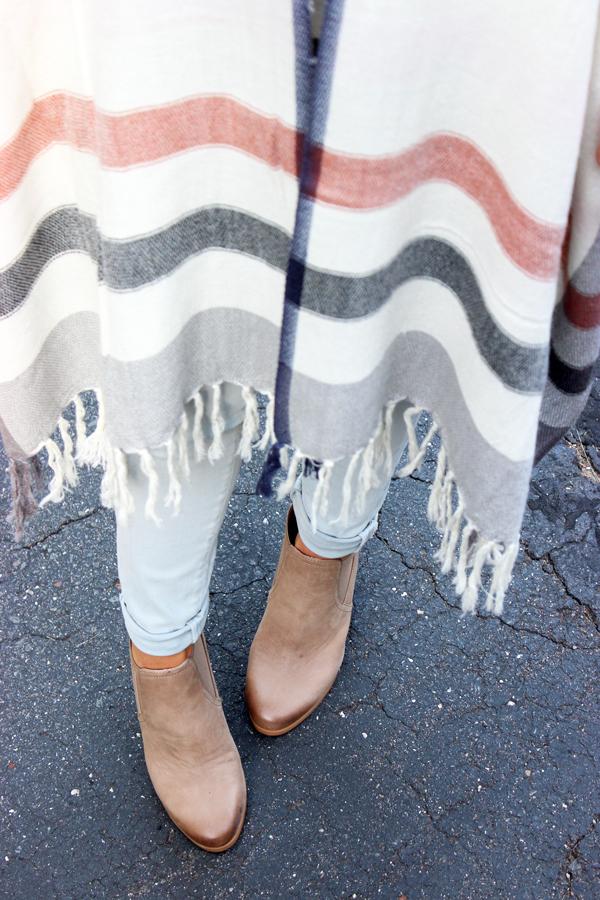Striped-Poncho