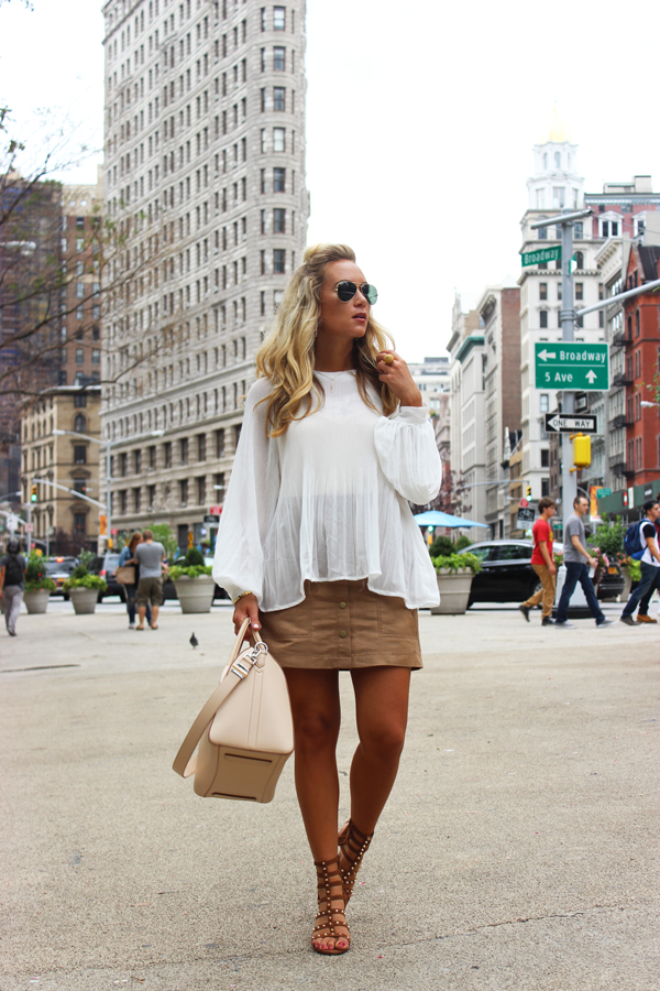 White-Pleated-Top