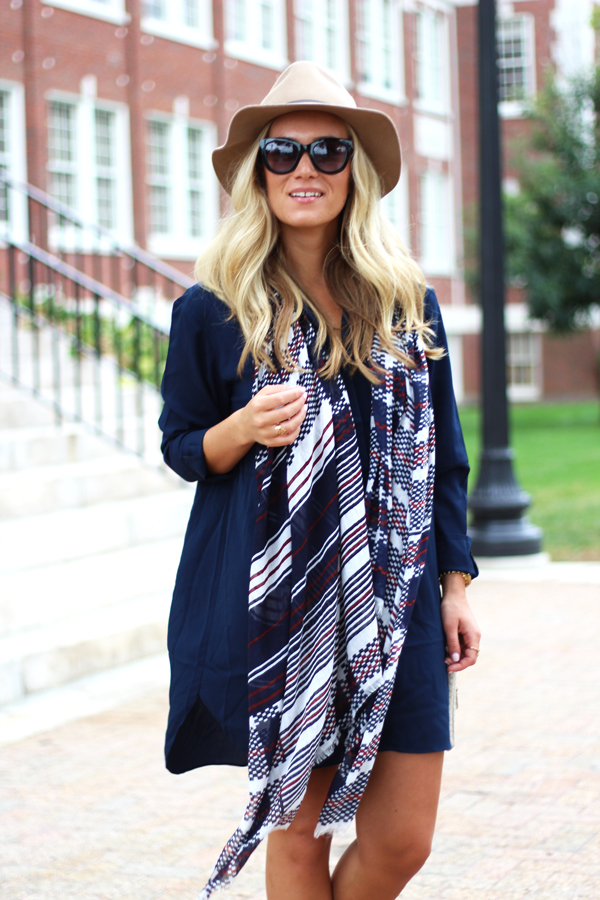 Navy-Shirtdress-with-Scarf