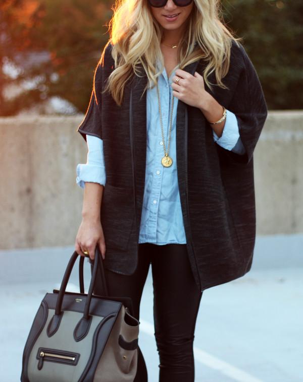 Chambray-Shirt-Celine-Bag