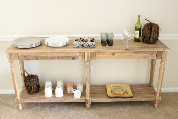 Wood-Buffet-Table
