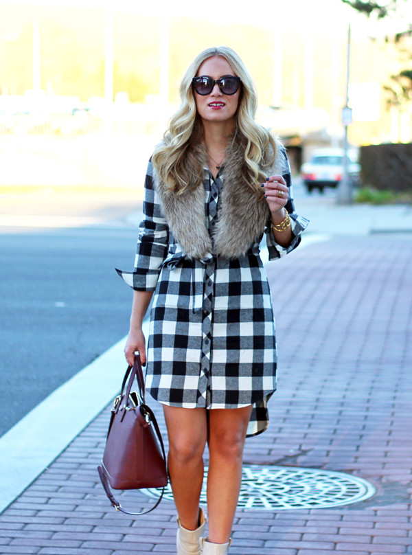 Plaid-Shirtdress-
