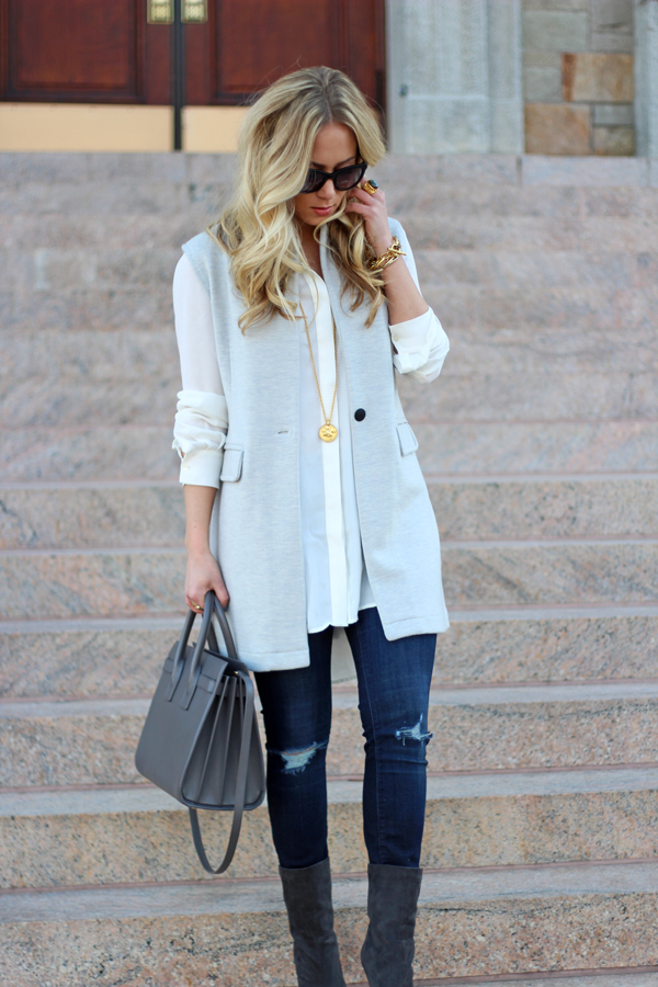 Ripped-Jeans-Gray-Vest