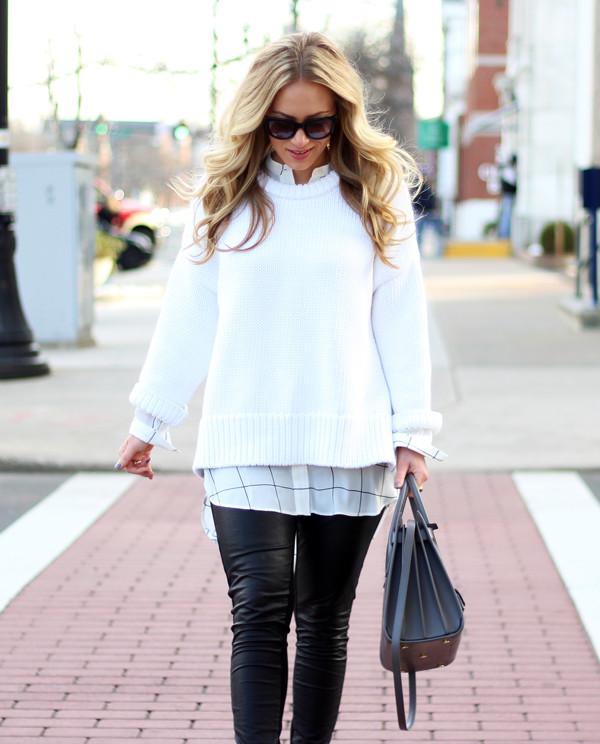 White-Chunky-Sweater